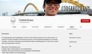 vlog của blogger codeaholicguy