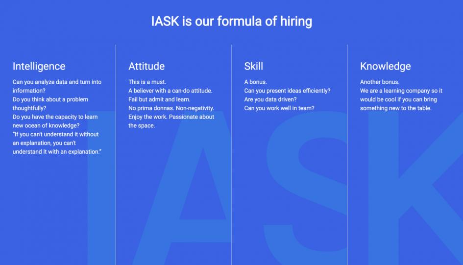 Bộ quy tắc IASK của Got It